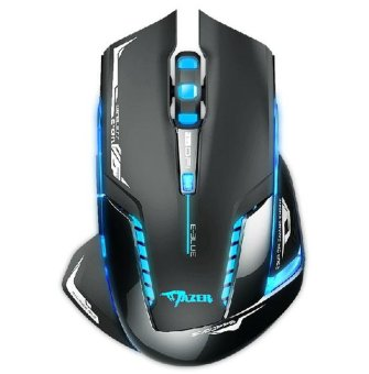 E-3lue 6D Mazer II 2500 DPI Blue LED 2.4GHz Wireless Gaming MouseBlack - intl - 2