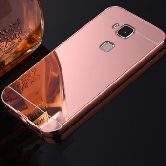 Elaike For Huawei G8 2 in 1 Luxury Aluminum Metal Mirror PC PhoneCover Case (Rose Gold) - intl
