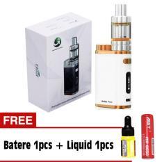 Eleaf iStick Pico Starter Kit 75W Rokok Elektrik Vapor Vape - Black Gratis Baterai / Battery AWT + Liquid Variasi rasa
