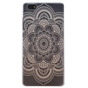 Elegant Flower Pattern Plastic Hard Protective Case for Huawei Ascend P8 Lite (White)