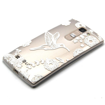 Embossed TPU Skin Case Cover for LG Magna H502F H500F / G4c H525N - Bird and Flowers