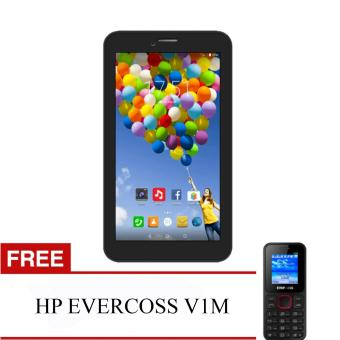 Evercoss Winner Tab S3 AT7F - 8GB - Hitam + FREE HP EVERCOSS V1M