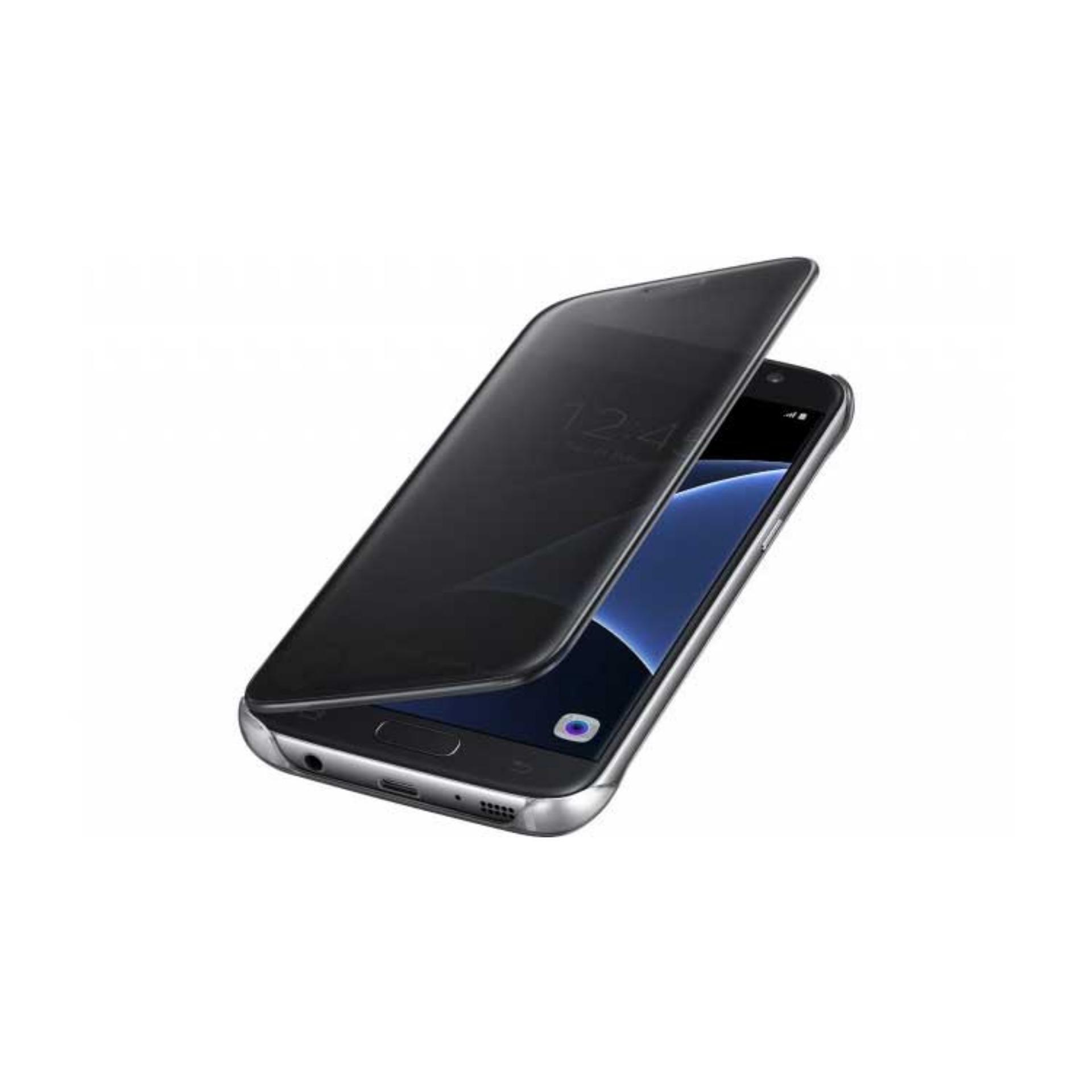 Executive Chanel Case Samsung Galaxy J7 Prime Flipcase Flip MirrorCover S View Transparan Auto Lock Casing