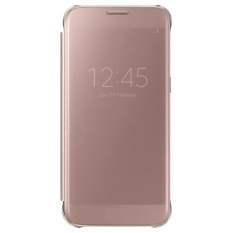 Fashion Clear View Mirror Screen Flip Case Cover untuk Samsung Galaxy S7 Edge G9350 Kasus (Warna: Rose Gold)-Intl