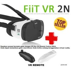 FIIT VR 2N With Remote Cardboard 3D VR Headset Virtual Reality Box