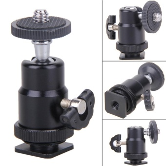 Flash Bracket Holder Mount 1/4 Hot Shoe Adapter Ball Head with Lock - intl - 2