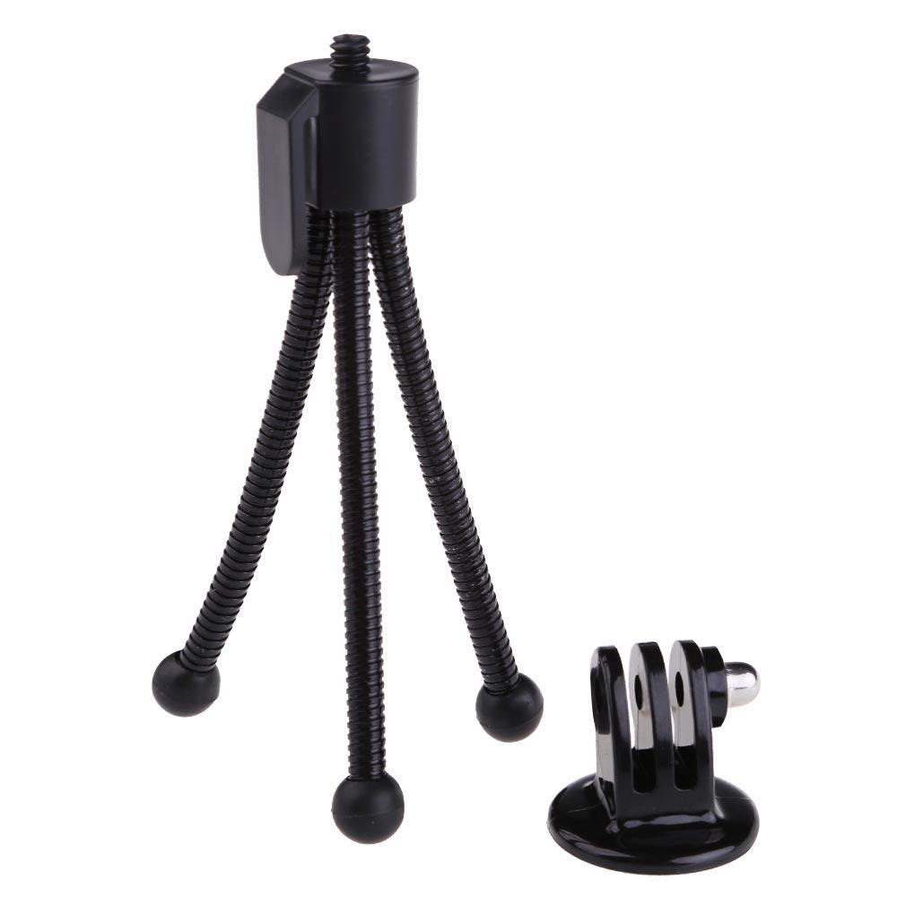 ... Flexible Mini Tripod Stand + Tripod Mount Adapter for GoPro Hero 12 3 3+ ...