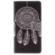 Flip Dompet Kulit PU dengan Slot Kartu dan Penutupan Flap Magnetik Stand Cover untuk Alcatel One Touch POP C9 OT 7047 7047D (Multicolor) (Intl)