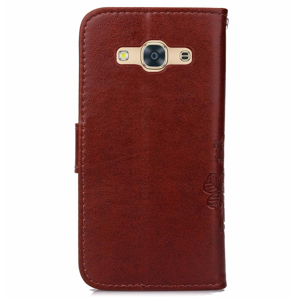 Flip Wallet Style simple pattern (PU leather and Soft TPU) Stand .