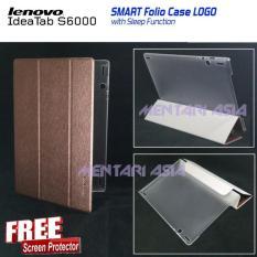 Flipcover Lenovo Ideatab S6000 : SMART Folio Case LOGO With SLEEP FUNCTION ( + FREE SP)