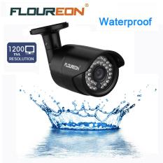 FLOUREON 1200TVL Keamanan Luar Ruangan Kamera Pandangan Malam (Hitam)