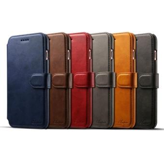 For Apple Iphone 6/6s Plus Premium Genuine Leather Card Slotpattern Wallet flip Cover Phone Case - intl - 3