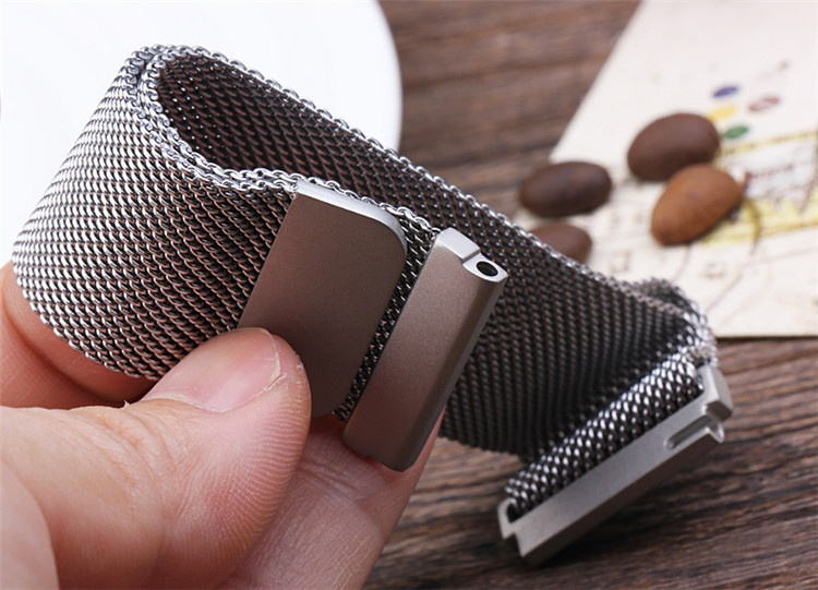 ... For Gear S3 Frontier / Classic 22mm Stainless Steel Bracelet Strapband Milanese Loop magnetic With Connector ...