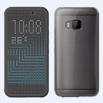 For HTC One M9 Dot View Ice Premium Gray Flip Cover Shell Case -intl