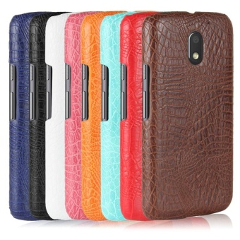 For Motorola Moto E3 Power Crocodile PU Leather Skin Hard PlasticBack Cover Phone Bag Case - intl