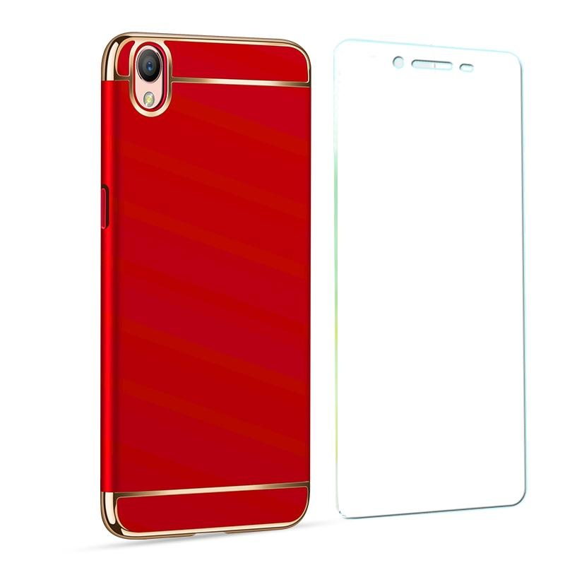 ... For OPPO A37 phone Case + tempered glass /OPPO A37 Ultra ThinChromed 3in1 Hybrid Armor ...
