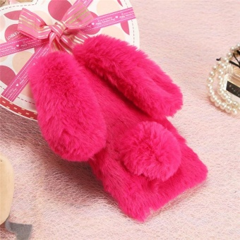 For OPPO R9S Plus/F3 Plus Bunny Cover Luxury 3D Cute Rabbit WarmFur Case Soft TPU Phone Case - intl