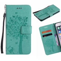 """For Samsung Galaxy J7 Prime / On7 2016 (5.5 """") Case Cover ClassicFashion style Wallet Flip Stand PU Leather Mobile Phone Case (KT723/ Green) - intl"""