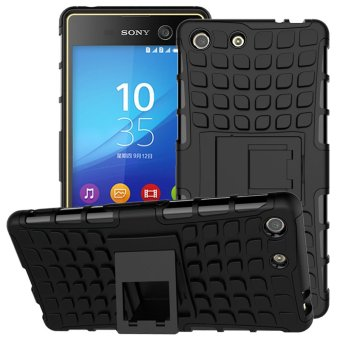 For Sony Xperia M5 Case Heavy Duty Armor Shockproof Hybrid Stand Hard Rugged Rubber Cover For Sony Xperia M5 Dual E5633 E5603 - intl