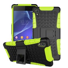 For Sony Xperia Z2 Case Heavy Duty Armor Shockproof Hybrid HardSilicone Rubber Phone Case for Sony