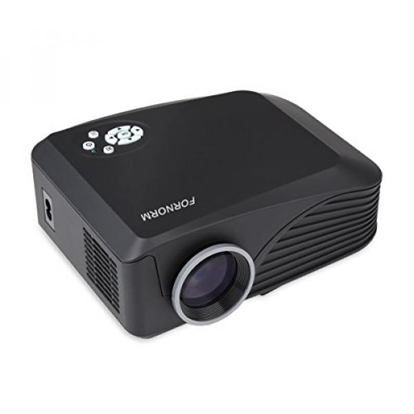 FORNORM LCD Portable Mini Projector Multimedia Home Theater Video Projector Support HD 1080P HDMI USB SD
