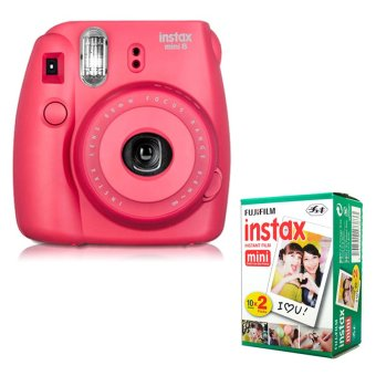 Hot Deals Fujifilm Instax Mini 8 Instant Camera (Raspberry) + Fuji White EdgeInstant 20 Film eShop Checker