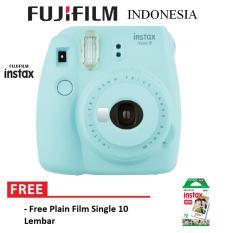 Fujifilm Instax Polaroid Camera Mini 9 Paket Standard - Ice Blue