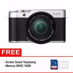 Fujifilm X-A10 Kit 16-50mm Kamera Mirrorless - Free Screenguard + SDHC 16GB