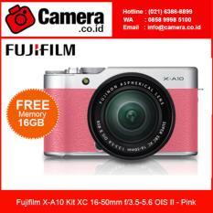 Fujifilm X-A10 Kit XC 16-50mm f/3.5-5.6 OIS II - Pink +FREE SDHC 16GB