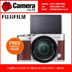 Fujifilm X-A3 Kit XC 16-50mm f/3.5-5.6 OIS II- Brown +FREE 16GB