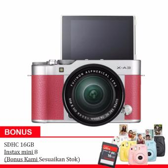 Fujifilm X-A3 Kit XC 16-50mm f/3.5-5.6 OIS II-Pink + Instax Mini 8 + 16Gb