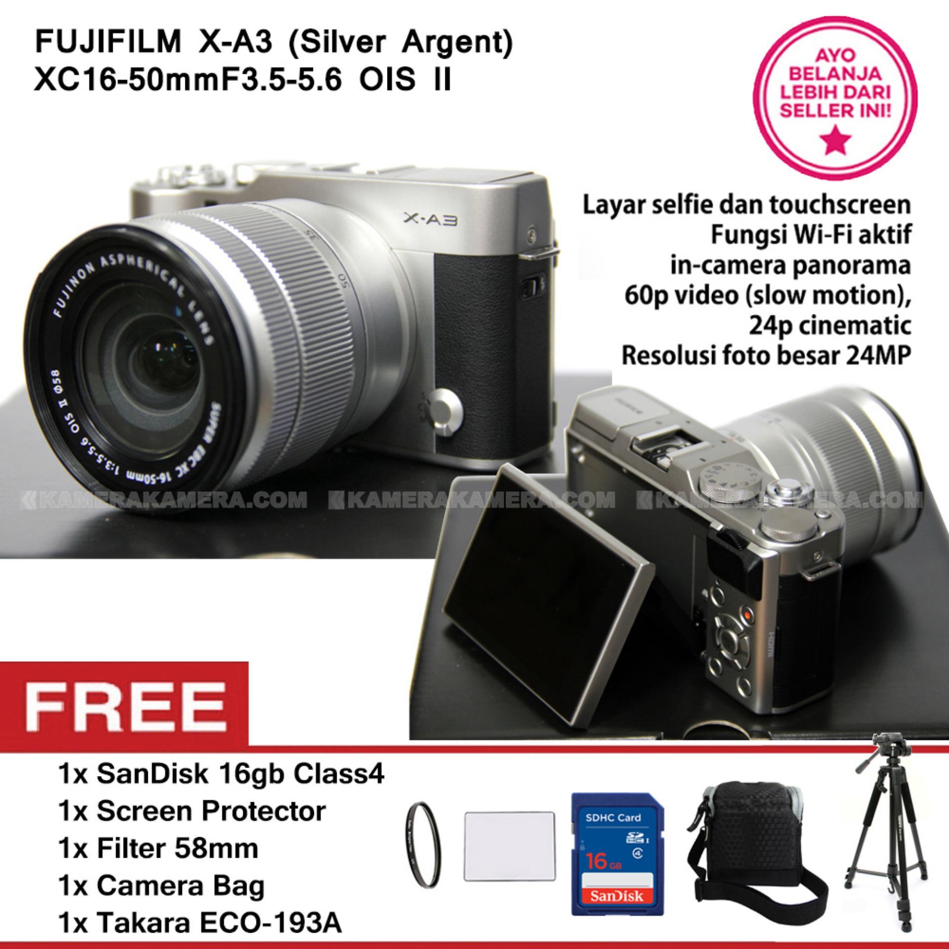 Nikon D5500 Dslr With Wi Fi 242mp Lens Kit 18 55 Vr Ii Memory Hdsc Fujifilm X A3 16 50mm F35 56 Ois Brown Pwp Xf23mm F2 Pink Rose Xc16