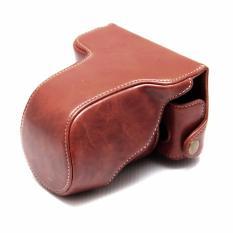 Fujifilm X-A3 / X-A10 / XA3 / XA10  Leather Bag / Case / Tas Kamera - Coklat Tua