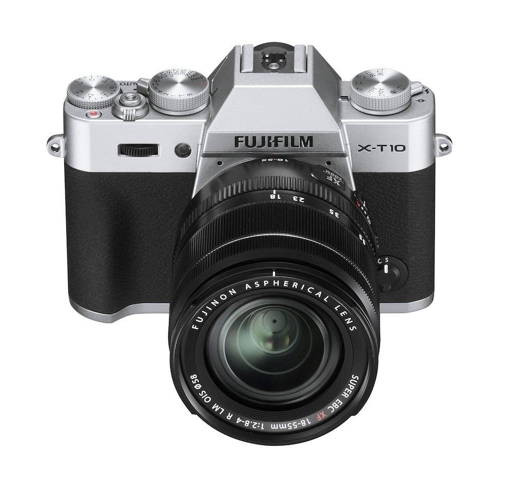 Fujifilm X-T10 Digital Mirrorless Cameras with 18-55mm f/2.8-4 R LMOIS Lens - Silver