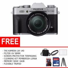 Fujifilm X-T20 Mirrorless Digital Camera with 16-50mm Lens (Paket Lengkap)