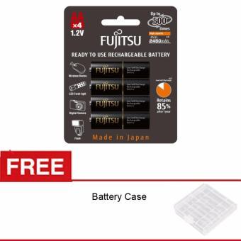 Fujitsu Battery AA PRO Rechargeable 2450mAH isi 4 Free