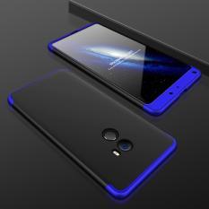 Full Body Cakupan Perlindungan Case untuk Xiaomi Mi Mix 2 Anti-slip Hard PC 3 In 1 Dilepas Cover Pink