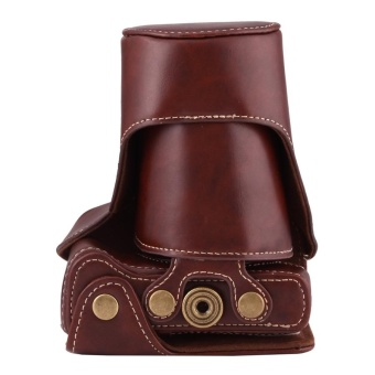Detail Gambar Full Body Camera PU Leather Case Bag With Strap For Canon EOS M3(Coffee) - intl dan Variasi Modelnya