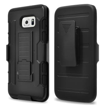 Full Body Shockproof Heavy Duty Rugged Case With Locking Belt Swivel Clip & Kickstand For Samsung Galaxy S6 Edge (Will not fit Galaxy S6 Active, Galaxy S6, Galaxy S6 Edge Plus) - intl