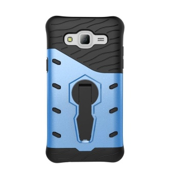 Galaxy J500 2015 Adjustable Rotate Stand Holder Protective ShellHybrid Heavy Duty Bumper Armor Rubber Shockproof Case Cover forSamsung Galaxy J5 2015 - intl