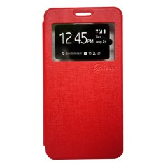 Galeno Leather Flip Cover for Vivo Y21 / Y22 - Merah