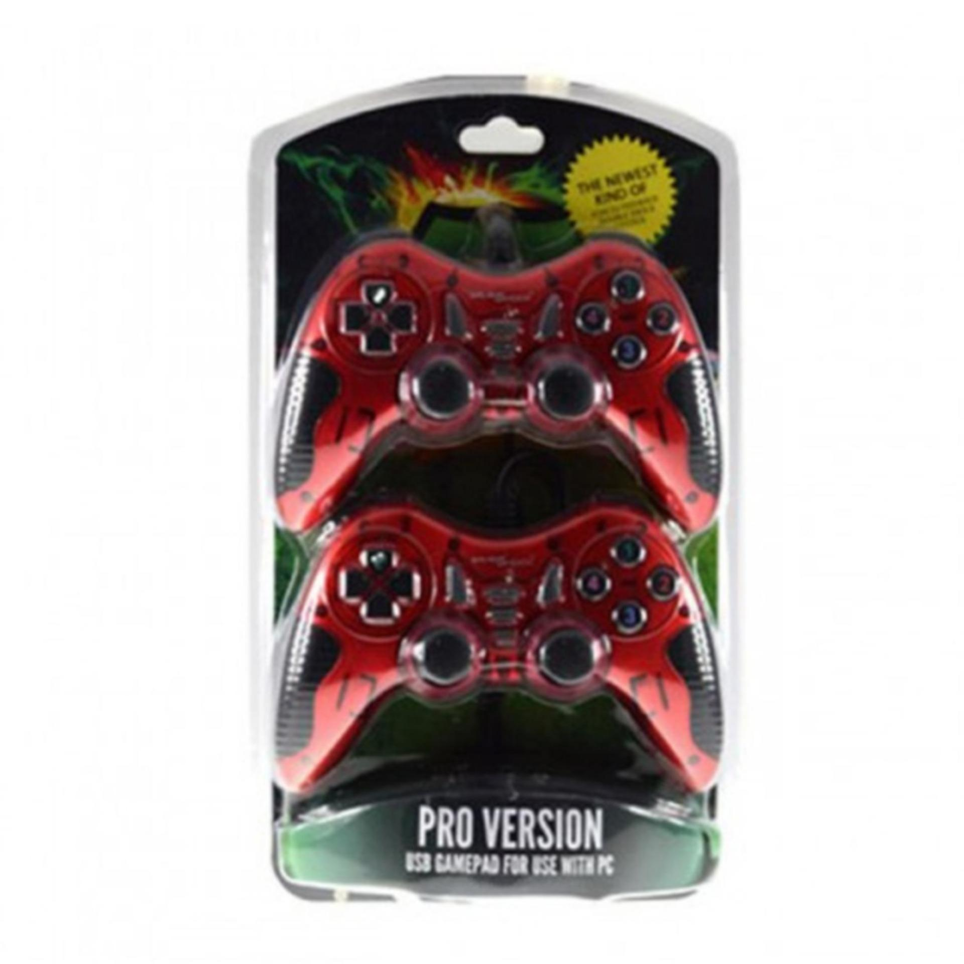 Gameshock Gamepad Double Getar New Turbo BF-713D-RE .