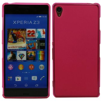 Gel Case Skin Flexible TPU Covers Case Design for Sony Xperia Z3(Pink)
