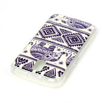 Geometric Pattern and Elephant Soft IMD TPU Shell Case for Lenovo A328 (Multicolor)
