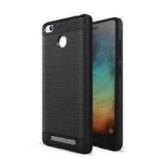 Gerai  iPaky Carbon Fiber Shockproof Hybrid Back Case for Xiaomi Redmi 3 Pro / 3s / Prime - Black