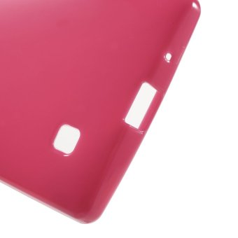 Glossy Outer Brushed Inner TPU Phone Cover for LG Magna H502F H500F / G4c H525N / Volt 2 LS751 (Rose)