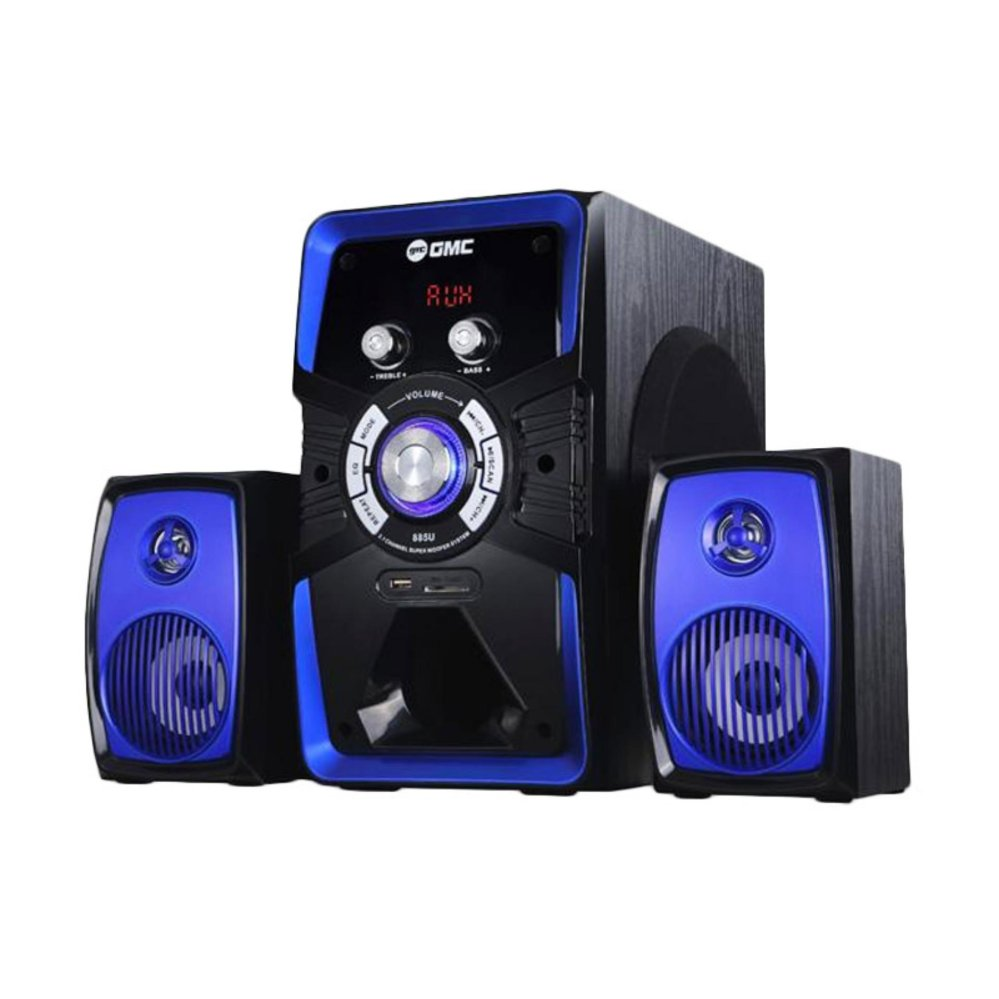 ... GMC 885 U Bluetooth Speaker Aktif (Garansi Resmi GMC) Biru ...