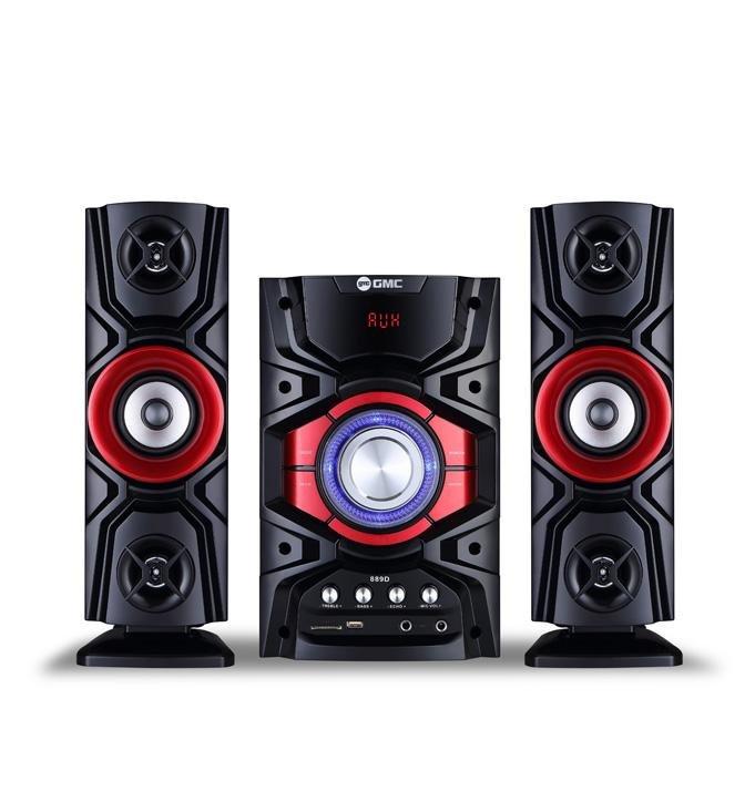 Shopping Comparison GMC 889D Speaker Aktif - Bluetooth Connection - Merah