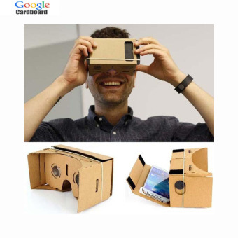 "Google Cardboard Virtual Reality VR Box 2.0 VR HeadsetMobile Phone3D Viewing Glasses for 5.0"" Screen Google VR 3D Glasses"