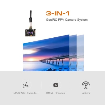 GoolRC 800TV FPV Camera 5.8G 40CH 25/100/200mW Transmitter IPEX Antenna for Inductrix QX90 H36 T36 NH-010 Micro Racing Drone - intl - 3